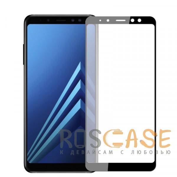 Фото Черное 5D защитное стекло для Samsung A730 Galaxy A8+ (2018) на весь экран