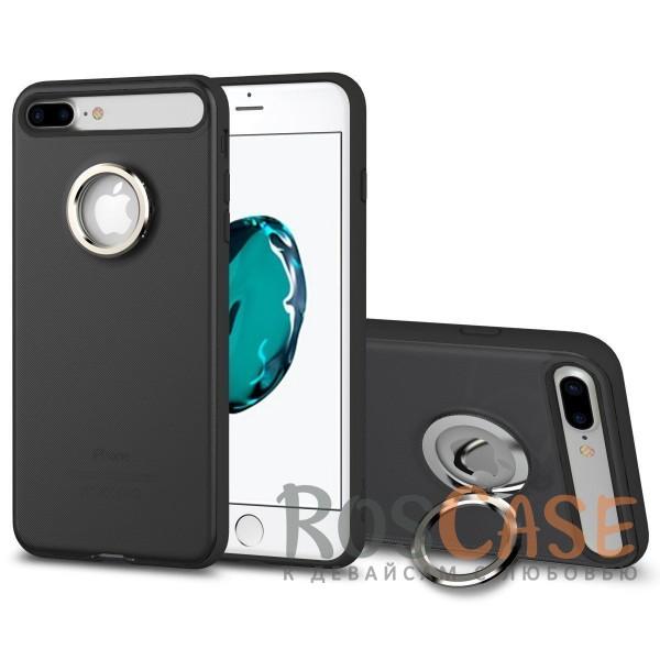Стильный пластиковый защитный чехол с удобным кольцом-подставкой на 360 для Apple iPhone 7 plus / 8 plus (5.5) (Черный / Black)Описание:произведен компанией&amp;nbsp;Rock;разработан для Apple iPhone 7 plus / 8 plus (5.5);материалы: термополиуретан и поликарбонат;тип: накладка.<br><br>Тип: Чехол<br>Бренд: ROCK<br>Материал: TPU