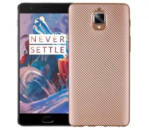 Матовый чехол для OnePlus 3 / OnePlus 3T с текстурированной поверхностью под карбон