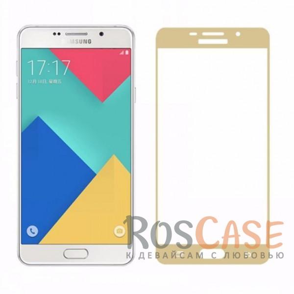 Защитное стекло с цветной рамкой на весь экран с олеофобным покрытием анти-отпечатки для Samsung A510F Galaxy A5 (2016) (Золотой)Описание:компания&amp;nbsp;Epik;совместимо с Samsung A510F Galaxy A5 (2016);материал: закаленное стекло;тип: защитное стекло на экран.Особенности:полностью закрывает дисплей;толщина - 0,3 мм;цветная рамка;прочность 9H;покрытие анти-отпечатки;защита от ударов и царапин.<br><br>Тип: Защитное стекло<br>Бренд: Epik