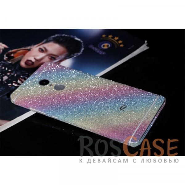 Виниловая наклейка на обе стороны Glitter series для Xiaomi Redmi Note 4 (MTK) (Радуга)<br><br>Тип: Чехол<br>Бренд: Noreve<br>Материал: Натуральная кожа