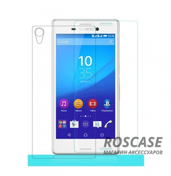 Защитное стекло Nillkin Anti-Explosion Glass Screen (H) для Sony Xperia M4 Aqua+пленка задняя панельОписание:компания-производитель:&amp;nbsp;Nillkin;разработано специально для Sony Xperia M4 Aqua;материал: закаленное стекло;тип: стекло.&amp;nbsp;Особенности:имеются все функциональные вырезы;в комплекте пленка на камеру и на заднюю панель;антибликовое покрытие;твердость 9H;не влияет на чувствительность сенсора;легко очищается;толщина - &amp;nbsp;0,3 мм;анти-отпечатки.<br><br>Тип: Защитное стекло<br>Бренд: Nillkin