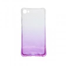 Гибкий чехол для Meizu U10 из прозрачного силикона с градиентным цветным напылением