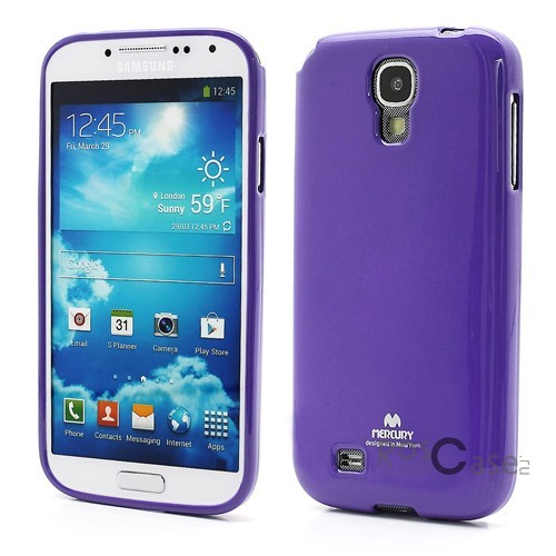 фото Фиолетовый TPU чехол Mercury Jelly Color series для Samsung i9500 Galaxy S4