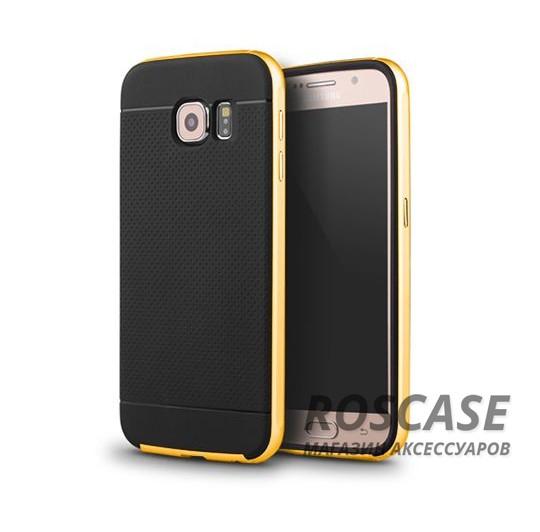 Чехол iPaky TPU+PC для Samsung Galaxy S6 G920F/G920D Duos (Черный / Желтый)Описание:компания-разработчик: iPaky;совместимость с устройством модели: Samsung Galaxy S6 G920F/G920D Duos;материал изделия: термопластический полиуретан, поликарбонат;конфигурация: накладка-бампер.Особенности:элегантный дизайн;высокий класс прочности и износоустойчивости;легко и надежно фиксируется на смартфоне;имеет все необходимые функциональные вырезы.<br><br>Тип: Чехол<br>Бренд: Epik<br>Материал: TPU