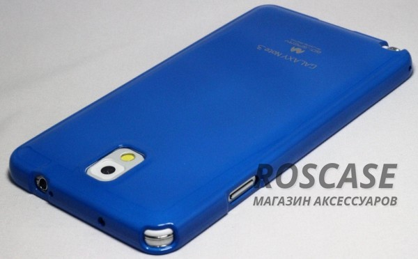 фото Синий TPU чехол Mercury Jelly Color series для Samsung N9000/N9002 Galaxy Note 3