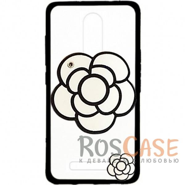 Прозрачный пластиковый чехол Beauty flower со встроенным зеркалом и длинным шнурком на шею для Xiaomi Redmi Note 3 / Redmi Note 3 Pro (Белые Цветы)<br><br>Тип: Чехол<br>Бренд: Epik<br>Материал: TPU
