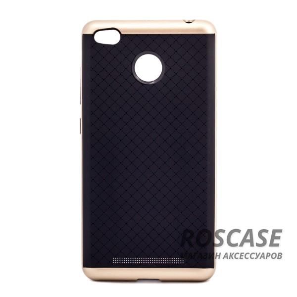 Чехол iPaky TPU+PC для Xiaomi Redmi 3 Pro / Redmi 3s (Черный / Золотой)Описание:производитель - iPaky;подходит для Xiaomi Redmi 3 Pro / Redmi 3s;материал: термополиуретан, поликарбонат;форма: накладка на заднюю панель.Особенности:эластичный;рельефная поверхность;прочная окантовка;ультратонкий;надежная фиксация.<br><br>Тип: Чехол<br>Бренд: Epik<br>Материал: TPU