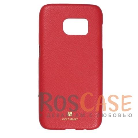 Накладка Just Must SU II Collection с олеофобным покрытием для Samsung G930F Galaxy S7 (Красный)Описание:бренд -&amp;nbsp;Just Must;материал - искусственная кожа;совместимость - Samsung G930F Galaxy S7;тип - накладка.<br><br>Тип: Чехол<br>Бренд: Just Must<br>Материал: Искусственная кожа