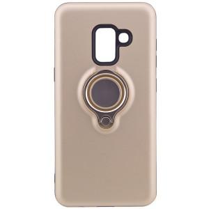 Deen | Матовый чехол для Samsung A530 Galaxy A8 (2018) с креплением под магнитный держатель и кольцом-подставкой