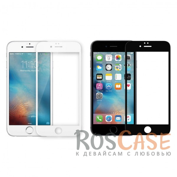 """Фото Объемное защитное стекло Nillkin 3D на весь экран с олеофобным покрытием """"анти-отпечатки"""" для Apple iPhone 6/6s (4.7"""")"""