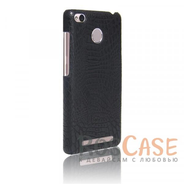 Кожаный чехол с узором из крокодиловой кожи Croc Series для Xiaomi Redmi 3 Pro / Redmi 3s (Черный)<br><br>Тип: Чехол<br>Бренд: Epik<br>Материал: Искусственная кожа