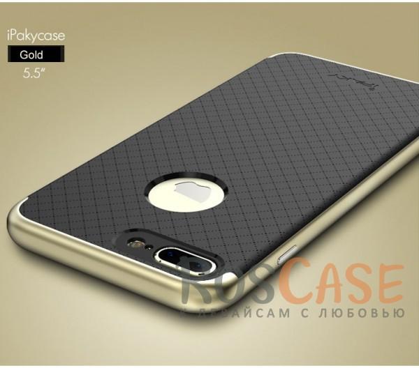 Чехол iPaky TPU+PC для Apple iPhone 7 plus (5.5) (Черный / Золотой)Описание:производитель - iPaky;совместим с Apple iPhone 7 plus (5.5);материал: термополиуретан, поликарбонат;форма: накладка на заднюю панель.Особенности:эластичный;рельефная поверхность;прочная окантовка;ультратонкий;надежная фиксация.<br><br>Тип: Чехол<br>Бренд: Epik<br>Материал: TPU
