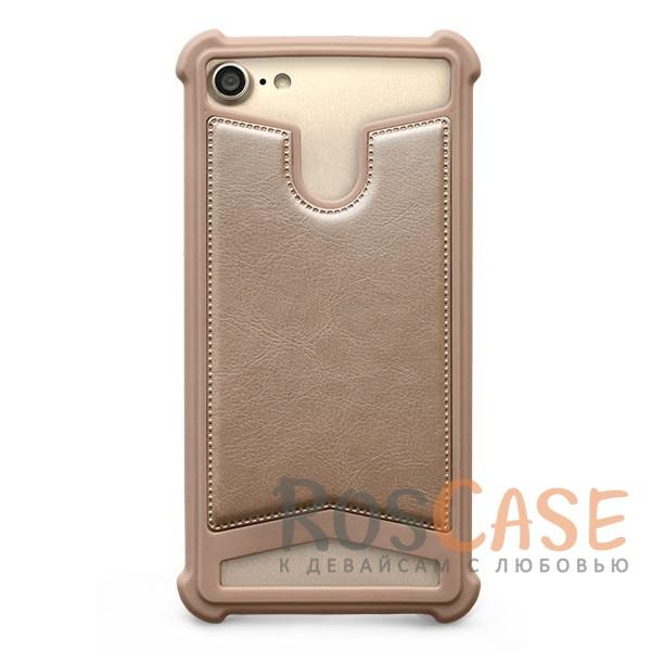 Универсальный чехол-накладка с противоударным бампером Gresso Классик для смартфона 4.7-5.0 дюйма (Бежевый)Описание:бренд -&amp;nbsp;Gresso;совместимость -&amp;nbsp;смартфоны с диагональю 4.7-5.0&amp;nbsp;дюйма;материал - искусственная кожа, силикон;тип - накладка;предусмотрены все необходимые вырезы;силиконовый бампер;ударопрочная конструкция;ВНИМАНИЕ: убедитесь, что ваша модель устройства находится в пределах максимального размера чехла. Размеры чехла:&amp;nbsp;70х137х10 мм.<br><br>Тип: Чехол<br>Бренд: Gresso<br>Материал: Искусственная кожа