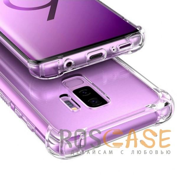 Фото Прозрачный King Kong Armor | Противоударный прозрачный чехол для Samsung Galaxy S9+ с дополнительной защитой углов