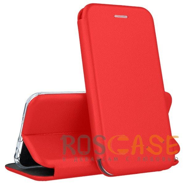 Open Color | Чехол-книжка для Samsung Galaxy J8 (2018) с функцией подставки и магнитом (Красный)