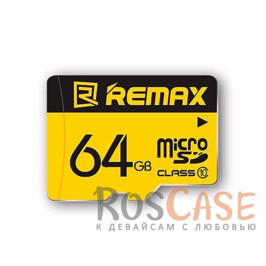 Фото Карта памяти Remax microSDHC 64 GB Card Class 10 +SD адаптер