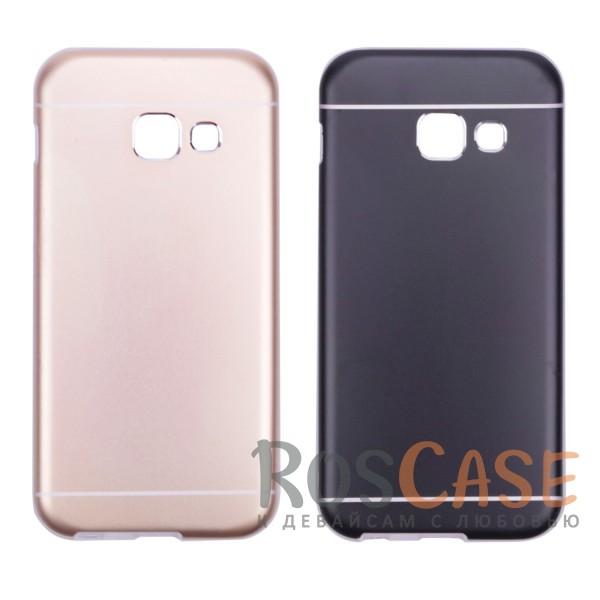 Тонкий двухслойный алюминиевый чехол с хромированными вставками и защитой кнопок для Apple iPhone 6/6s (4.7)Описание:разработан для Samsung A320 Galaxy A3 (2017);материалы - металл, термополиуретан;двухслойная конструкция;матовый на ощупь;на нем не заметны отпечатки пальцев;тип - накладка;предусмотрены все необходимые вырезы.<br><br>Тип: Чехол<br>Бренд: Epik<br>Материал: Металл