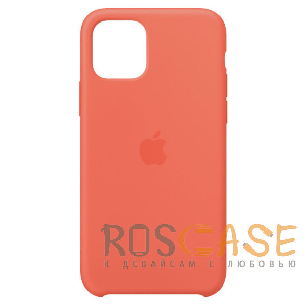 Фото Персиковый Силиконовый чехол Silicone Case с микрофиброй для iPhone 11 Pro