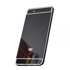 Металлический бампер для Xiaomi Redmi Note 5A / Y1 Lite с зеркальной вставкой