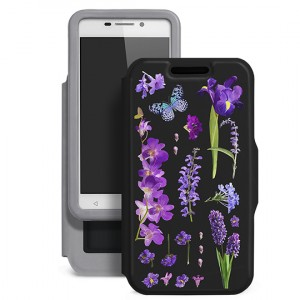 "Gresso ""Виктория-ирис"" |  чехол-книжка с цветочным принтом для Huawei Honor 5A / Y6 II"