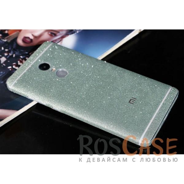 Виниловая наклейка на обе стороны Glitter series для Xiaomi Redmi Note 4 (MTK) (Зеленый)<br><br>Тип: Чехол<br>Бренд: Noreve<br>Материал: Натуральная кожа
