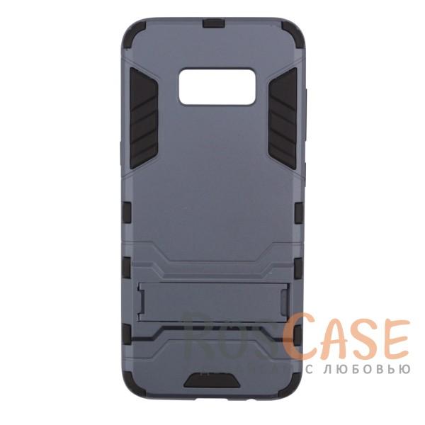 Ударопрочный чехол-подставка Transformer для Samsung G955 Galaxy S8 Plus с мощной защитой корпуса (Серый / Metal slate)Описание:чехол разработан для Samsung G955 Galaxy S8 Plus;материалы - термополиуретан, поликарбонат;тип - накладка;функция подставки;защита от ударов;прочная конструкция;не скользит в руках.<br><br>Тип: Чехол<br>Бренд: Epik<br>Материал: Пластик