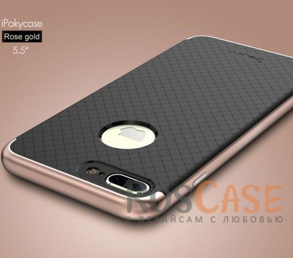 Чехол iPaky TPU+PC для Apple iPhone 7 plus (5.5) (Черный / Rose Gold)Описание:производитель - iPaky;совместим с Apple iPhone 7 plus (5.5);материал: термополиуретан, поликарбонат;форма: накладка на заднюю панель.Особенности:эластичный;рельефная поверхность;прочная окантовка;ультратонкий;надежная фиксация.<br><br>Тип: Чехол<br>Бренд: Epik<br>Материал: TPU