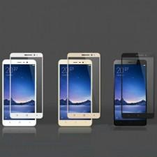 """Защитное стекло с цветной рамкой на весь экран с олеофобным покрытием """"анти-отпечатки"""" для Xiaomi Redmi Note 3 / Redmi Note 3 Pro"""
