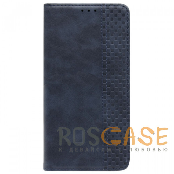 Фотография Синий Business Wallet | Кожаный чехол книжка с визитницей для Xiaomi Mi 11