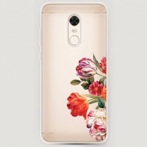 RosCase | Силиконовый чехол Весенний букет на Xiaomi Redmi 5 Plus / Redmi Note 5 (Single Camera) для Xiaomi Redmi Note 5 (SC)