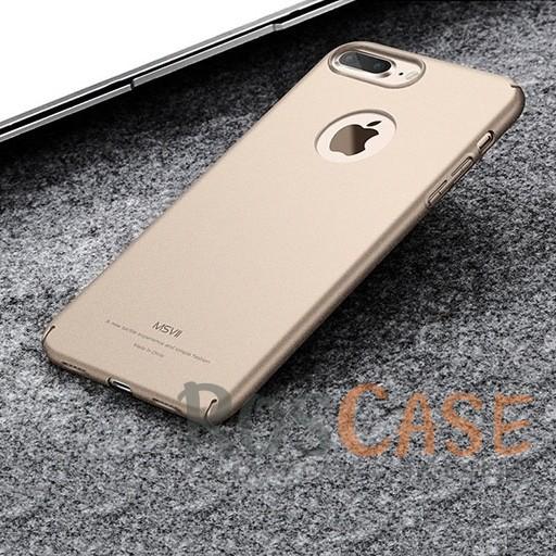 Пластиковый чехол Msvii Quicksand series для Apple iPhone 7 plus (5.5) (Золотой)Описание:производитель - Msvii;совместим с Apple iPhone 7 plus (5.5);материал  -  пластик;тип  -  накладка.&amp;nbsp;Особенности:матовая поверхность;имеет все разъемы;тонкий дизайн не увеличивает габариты;накладка не скользит;защищает от ударов и царапин;износостойкая.<br><br>Тип: Чехол<br>Бренд: Epik<br>Материал: Пластик