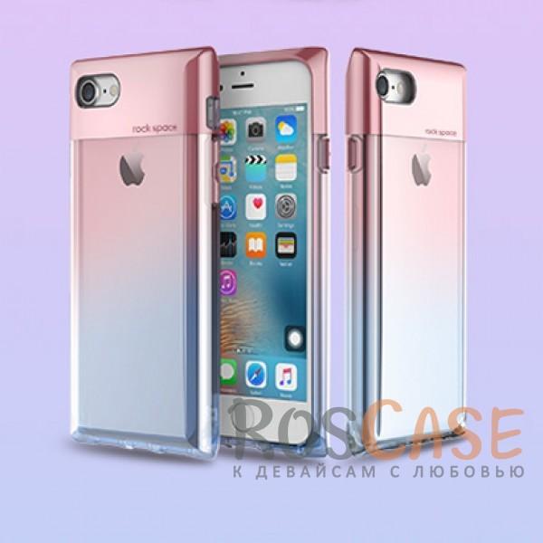 TPU+PC чехол Rock Crystal Series для Apple iPhone 7 (4.7) (Розовый / Transparent pink)Описание:бренд&amp;nbsp;Rock;совместимость:&amp;nbsp;Apple iPhone 7 (4.7);материал: термополиуретан и поликарбонат;вид: накладка.<br><br>Тип: Чехол<br>Бренд: ROCK<br>Материал: TPU