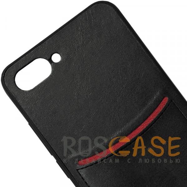 Фото Черный ILEVEL | Чехол с кожаным покрытием и с карманом-визитницей для Huawei Honor 10