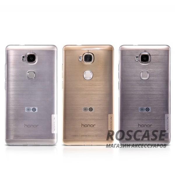 TPU чехол Nillkin Nature Series для Huawei Honor 5X / GR5Описание:производитель  - &amp;nbsp;Nillkin;совместимость: Huawei Honor X5 / GR5;материал  -  термополиуретан;форма  -  накладка.&amp;nbsp;Особенности:в наличии все вырезы;прозрачный;не увеличивает габариты;защита от ударов и царапин;на накладке не видны &amp;laquo;пальчики&amp;raquo;.<br><br>Тип: Чехол<br>Бренд: Nillkin<br>Материал: TPU