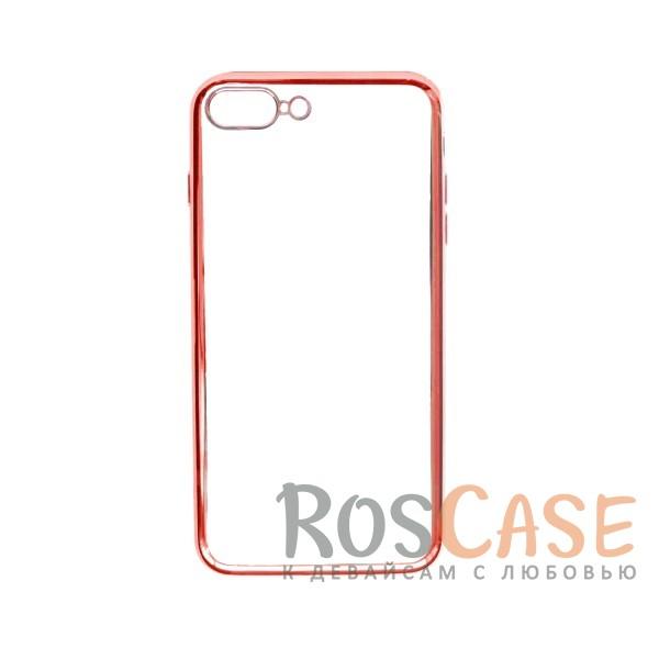 """Изображение Розовый Силиконовый чехол для Apple iPhone 7 plus / 8 plus (5.5"""") с глянцевой окантовкой"""