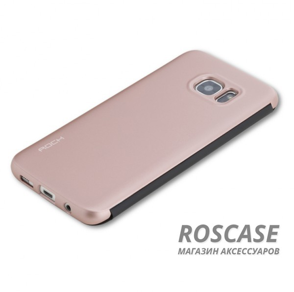 фото Розовый / Rose Gold Чехол (книжка) Rock DR.V Series для Samsung G935F Galaxy S7 Edge