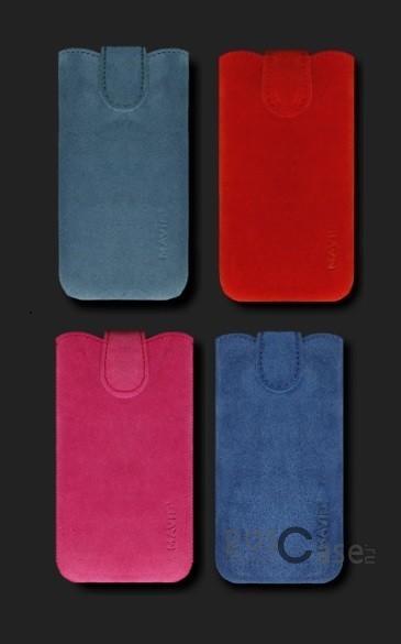 фото кожаный футляр Mavis Premium VELOUR для Apple iPhone 4/4S/HTC Desire V/X
