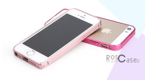 фото металлический бампер 8thdays Slim Guard Series для Apple iPhone 5/5S/5SE