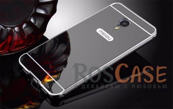 Металлический бампер с акриловой вставкой с зеркальным покрытием для Meizu M3e (Черный)Описание:разработан для Meizu M3e;материалы - металл, акрил;тип - бампер с задней панелью.<br><br>Тип: Чехол<br>Бренд: Epik<br>Материал: Металл