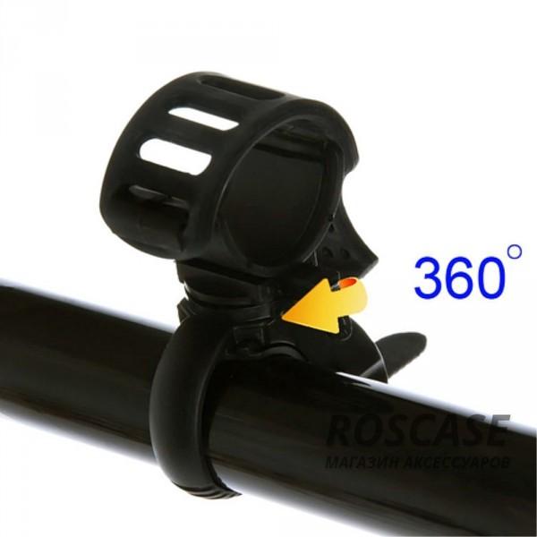Фотография Черный Велодержатель для фонарика (360 градусов, настраиваемый)