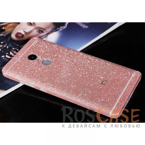 Виниловая наклейка на обе стороны Glitter series для Xiaomi Redmi Note 4 (MTK) (Светло-розовый)<br><br>Тип: Чехол<br>Бренд: Noreve<br>Материал: Натуральная кожа