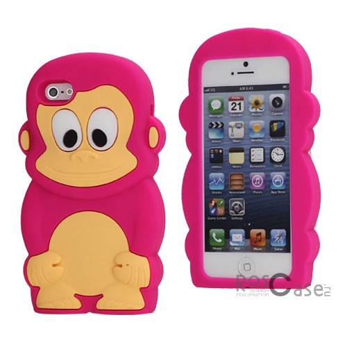 фото силиконовый чехол Monkey для Apple iPhone 5/5S/5SE