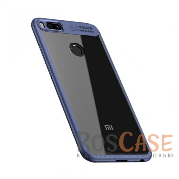 iPaky Hard Original | Прозрачный чехол для Xiaomi Mi 5X / Mi A1 с защитными бортиками (Синий)Особенности:совместимость - Xiaomi Mi 5X / Mi A1;материалы - поликарбонат, термополиуретан;тип - накладка;прозрачная вставка из поликарбоната;легко устанавливается;дополнительная защита камеры;дублирующие кнопки для защиты клавиш;ультратонкий дизайн;предусмотрены все функциональные вырезы.<br><br>Тип: Чехол<br>Бренд: iPaky<br>Материал: Поликарбонат