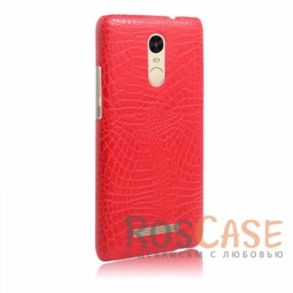 Кожаный чехол с узором из крокодиловой кожи Croc Series для Xiaomi Redmi Note 3 / Redmi Note 3 Pro (Красный)<br><br>Тип: Чехол<br>Бренд: Epik<br>Материал: Искусственная кожа