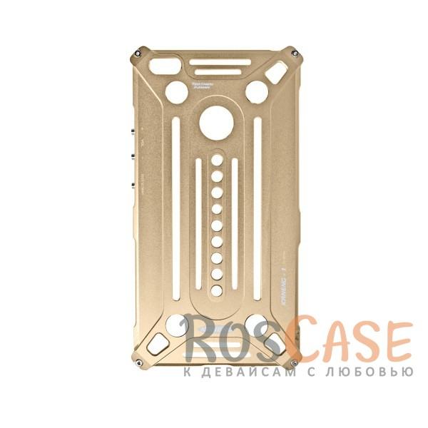 Противоударный цельнометаллический чехол из авиационного алюминия на винтах Kaneng для Xiaomi Mi Max (Золотой)<br><br>Тип: Чехол<br>Бренд: Epik<br>Материал: Металл