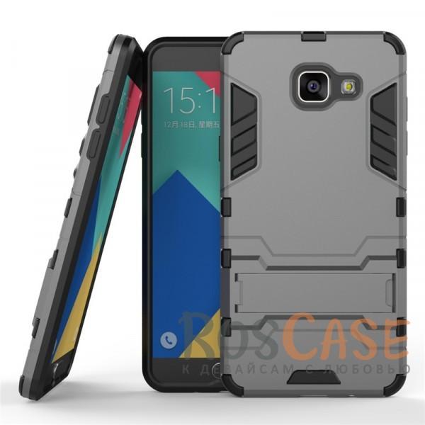 Ударопрочный чехол-подставка Transformer для Samsung A510F Galaxy A5 (2016) с мощной защитой корпуса (Металл / Gun Metal)Описание:форм-фактор  -  накладка;совмещение с Samsung A510 F Galaxy A5 (2016);материалы  -  термополиуретан, поликарбонат.Особенности:легкая фиксация;ударопрочный;функция подставки;имеет необходимые вырезы;легко и быстро очищается от загрязнений.<br><br>Тип: Чехол<br>Бренд: Epik<br>Материал: TPU