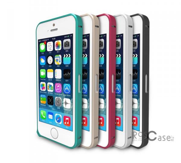 фото металлический бампер Remax для Apple iPhone 5/5S/5SE (винт)