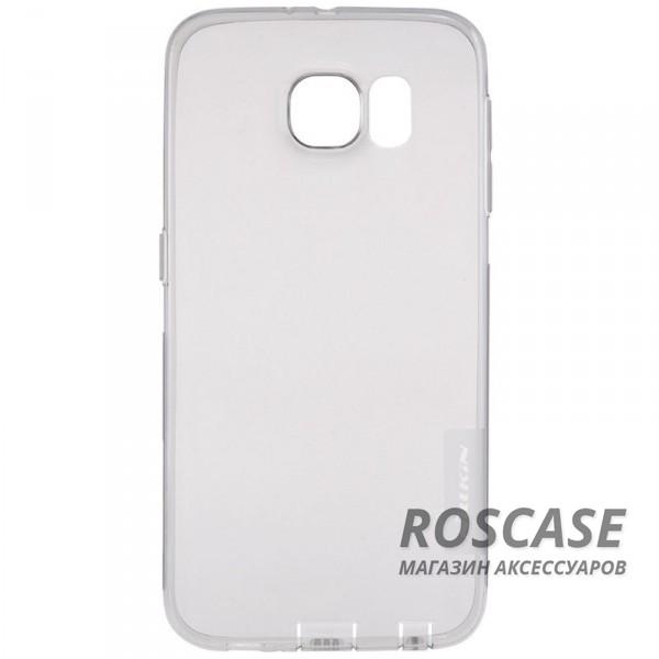 Мягкий прозрачный силиконовый чехол для Samsung G925F Galaxy S6 Edge (Серый (прозрачный))Описание:производитель  -  бренд&amp;nbsp;Nillkin;совместим с Samsung G925F Galaxy S6 Edge;материал  -  термополиуретан;тип  -  накладка.&amp;nbsp;Особенности:в наличии все вырезы;не скользит в руках;тонкий дизайн;защита от ударов и царапин;прозрачный.<br><br>Тип: Чехол<br>Бренд: Nillkin<br>Материал: TPU