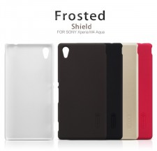фото Матовый чехол Nillkin Super Frosted Shield для Sony Xperia M4 Aqua (+ пленка)